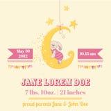 Fiesta de bienvenida al bebé o tarjeta de llegada Foto de archivo libre de regalías