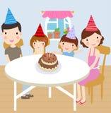 Fiesta de cumpleaños de la familia libre illustration