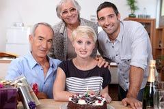 Fiesta de cumpleaños de la familia Imágenes de archivo libres de regalías