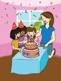 Fiesta de cumpleaños de la familia Imagen de archivo