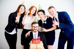 Fiesta de cumpleaños de la oficina Imagen de archivo