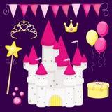 Fiesta de cumpleaños de la pequeña princesa Imagen de archivo libre de regalías