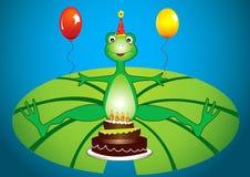 Fiesta de cumpleaños de la rana Fotos de archivo