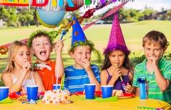 Fiesta de cumpleaños de los niños Imagen de archivo libre de regalías