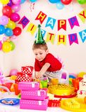 Fiesta de cumpleaños del niño. Imágenes de archivo libres de regalías