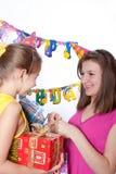 Fiesta de cumpleaños divertida Fotografía de archivo libre de regalías