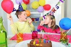 Fiesta de cumpleaños divertida grande Imágenes de archivo libres de regalías