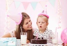 Fiesta de cumpleaños en casa Foto de archivo libre de regalías