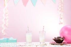 Fiesta de cumpleaños en casa Imágenes de archivo libres de regalías