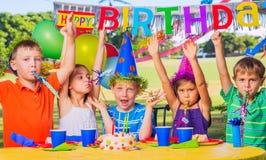 Fiesta de cumpleaños de los niños Imágenes de archivo libres de regalías