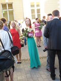 Fiesta de graduación en Tallinn Foto de archivo