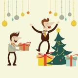 Fiesta de Navidad de la oficina Fotos de archivo libres de regalías