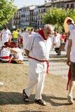 Fiesta de Pamplona Navarra Espagne le 11 juillet 2015 S Firmino un vieil homme Photos libres de droits