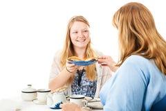 Fiesta del té con la mamá Fotos de archivo