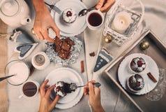 Fiesta del té del tiempo del advenimiento Fotos de archivo