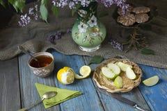 Fiesta del té en un pueblo Imagen de archivo libre de regalías