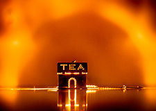 Fiesta del té enojada Foto de archivo