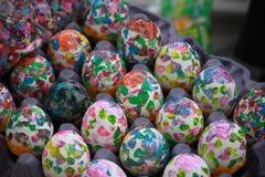 Fiesta Eggs. Old Spanish Days, Fiesta in Santa Barbara confetti eggs sold on street Stock Images
