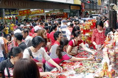 Fiesta en la calle Imagen de archivo