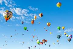 Fiesta 2016 för ballong Albuquerque för varm luft Royaltyfri Fotografi