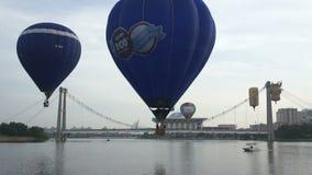 Fiesta för ballong för varm luft stock video