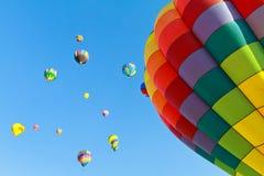 Fiesta för ballonger för varm luft Royaltyfri Bild