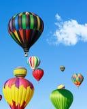 Fiesta för ballonger för varm luft Royaltyfri Foto