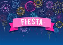 Fiesta, Fireworks and celebration background, winner, victory poster design. Fiesta, Fireworks and celebration background, winner, victory poster, banner Royalty Free Stock Image
