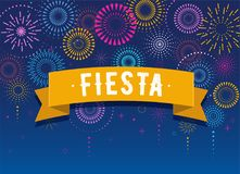 Fiesta, Fireworks and celebration background, winner, victory poster design. Fiesta, Fireworks and celebration background, winner, victory poster, banner Royalty Free Stock Photo
