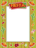 Fiesta frame Royalty Free Stock Photo