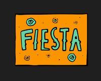 Fiesta icon. Fiesta holiday icon, card, flyer. Colorful illustration Royalty Free Stock Images