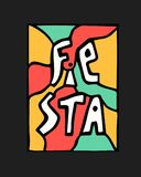 Fiesta icon. Fiesta holiday icon, card, flyer. Colorful illustration Royalty Free Stock Photos