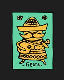 Fiesta icon. Fiesta holiday icon, card, flyer. Colorful illustration Stock Photos