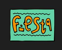 Fiesta icon. Fiesta holiday icon, card, flyer. Colorful illustration Stock Photo