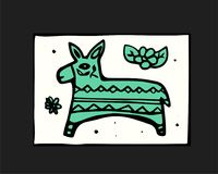 Fiesta icon. Fiesta holiday icon, card, flyer. Colorful illustration Royalty Free Stock Photo