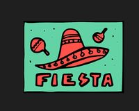 Fiesta icon. Fiesta holiday icon, card, flyer. Colorful illustration Royalty Free Stock Image