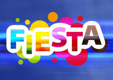 Fiesta live. Graphic design for fiesta and celebration event Stock Photography