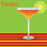 Fiesta! Margarita card. In vector format royalty free illustration