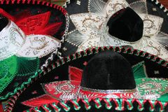 Fiesta mexicaine de sombrero images libres de droits