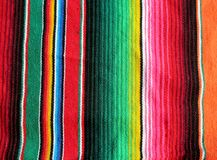 Poncho background Fiesta mexican handwoven rug. Poncho background Mexican handwoven rug fiesta with stripes and bright colors Stock Photography
