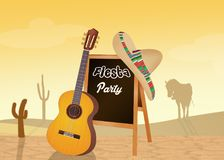 Fiesta Mexican party. Funny illustration of fiesta Mexican party Stock Photo