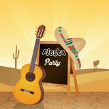 Fiesta Mexican party. Illustration of fiesta Mexican party Royalty Free Stock Photos