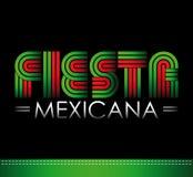 Fiesta Mexicana - meksykanina partyjny hiszpański tekst Zdjęcie Stock