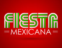 Fiesta Mexicana - Mexican party spanish text. Vector design - eps available Royalty Free Stock Photo