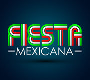 Fiesta Mexicana - Mexican party spanish text. Vector design - eps available Royalty Free Stock Images