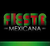 Fiesta Mexicana - Mexican party spanish text. Vector lettering - icon Stock Photo
