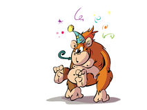 Fiesta monkey. Monkey ready for a party Royalty Free Stock Images