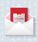Fiesta Navidena, Spanish translation: Christmas party, vector holiday card invitation. Eps available royalty free illustration