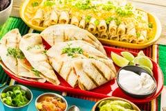 Fiesta buffet table royalty free stock photos