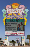 Fiesta Rancho Casino Sign in Las Vegas, NV on May 29, 2013 Royalty Free Stock Photo